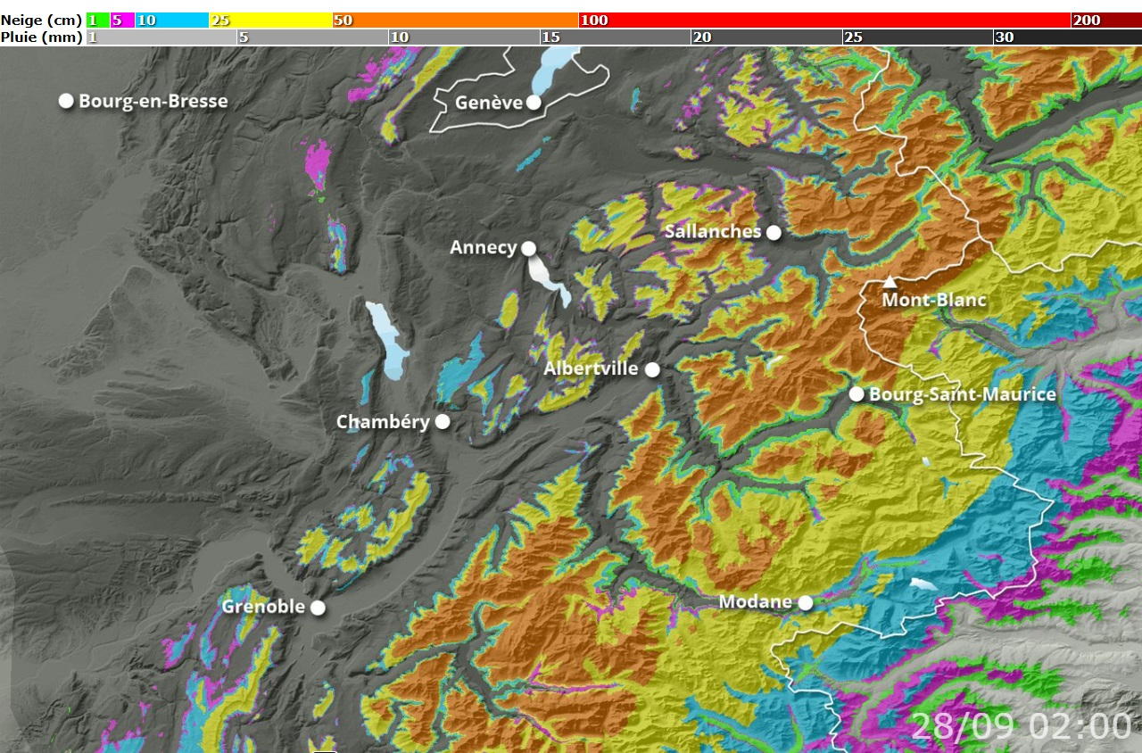 Image d'illustration pour Neige en montagne en septembre : Un phénomène peu commun ?