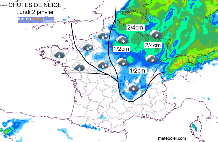 Image d'illustration pour Faible épisode neigeux dans le nord-Est ce lundi