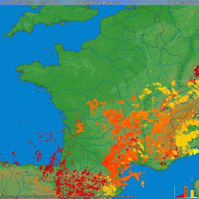 Image d'illustration pour Synthèse de l'épisode orageux du 7 au 9 septembre sur le Sud de la France