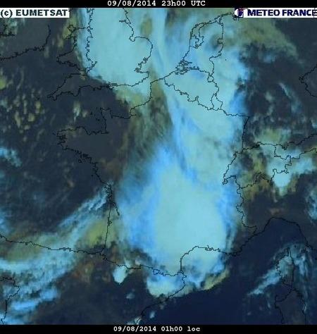 Image d'illustration pour Synthèse de l'épisode pluvio-orageux et venteux du 8 au 10 août