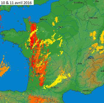 Image d'illustration pour De fréquents orages du 10 au 13 avril mais des dégâts limités