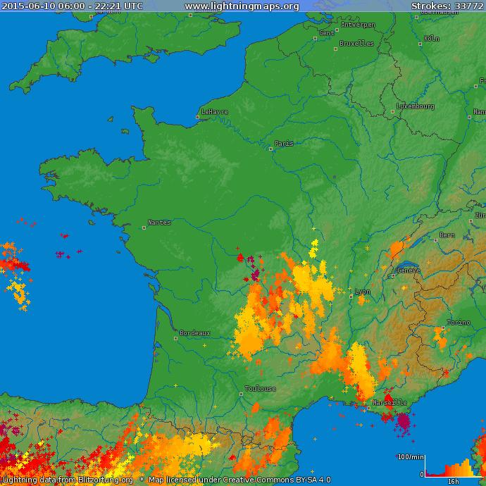 Image d'illustration pour Encore de violents orages au Sud - Coulée de boue dramatique en Corse