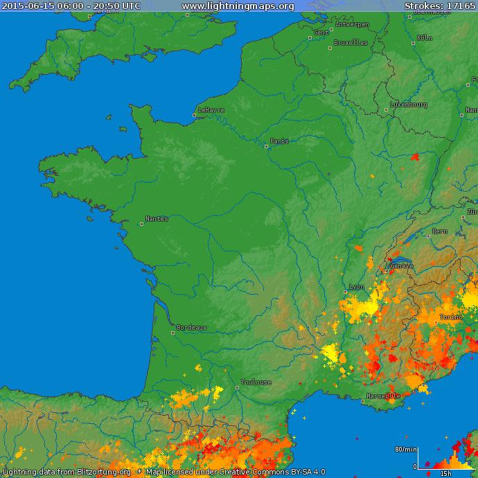 Image d'illustration pour Pluie abondante au Centre et encore de forts orages au Sud