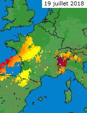 Image d'illustration pour Chaleur tournant de nouveau à l'orage du 18 au 21 juillet