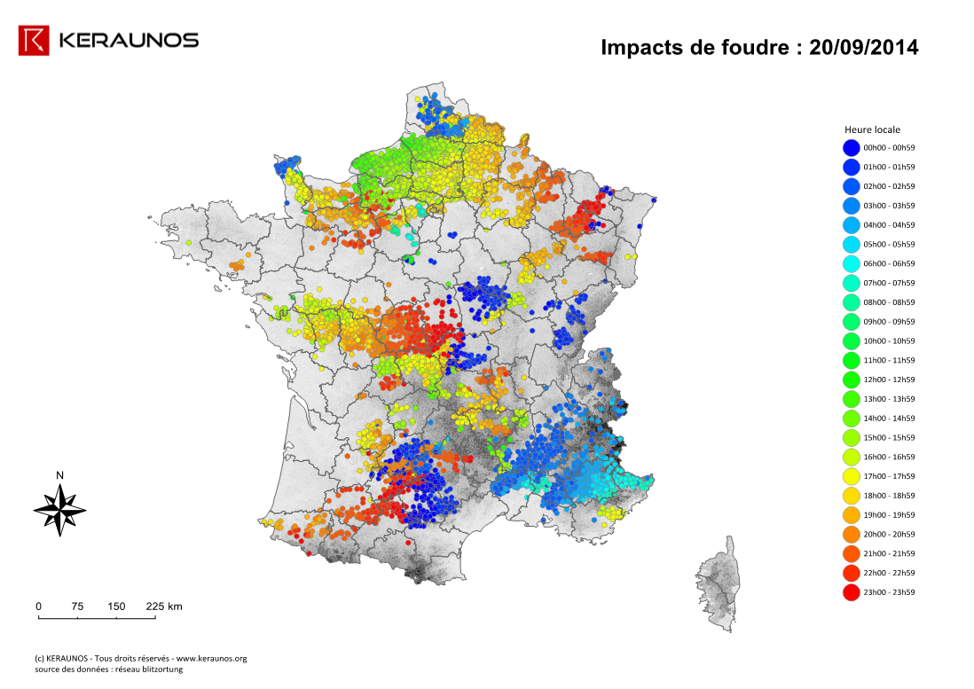 Image d'illustration pour Orages violents entre Normandie, IDF, Picardie, Nord Pas de Calais et Belgique