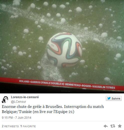 Image d'illustration pour Orage fort en Belgique - match de football interrompu par la grêle