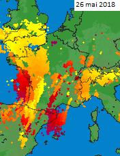 Image d'illustration pour De violents orages fin mai se prolongeant début juin