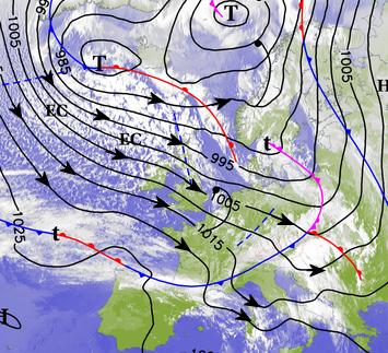 Image d'illustration pour Giboulées, grêle, vent et foudre : forts orages sur la France et l'Europe