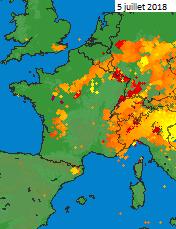 Image d'illustration pour Forts orages avec grêle et rafales ce début juillet