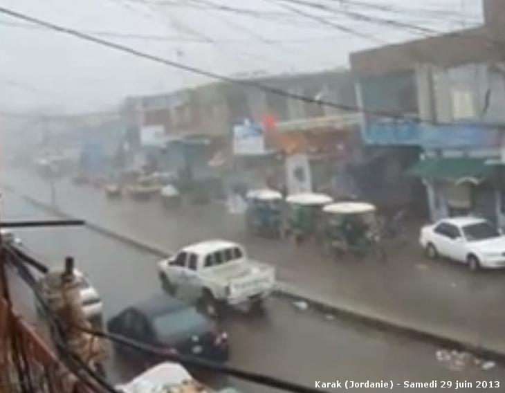 Image d'illustration pour Jordanie : Un orage en saison sèche