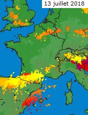 Image d'illustration pour Orages violents mi-juillet au Sud et près de la Méditerranée