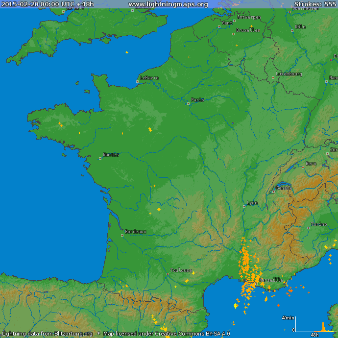 Image d'illustration pour Orage et neige entre Vallée du Rhône et PACA - Grêle et accidents