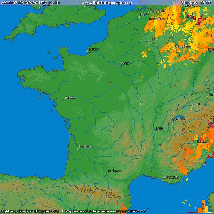 Image d'illustration pour Orage de grêle et foudre dans le Sud-Est (Alpes Maritimes et Haute Provence)