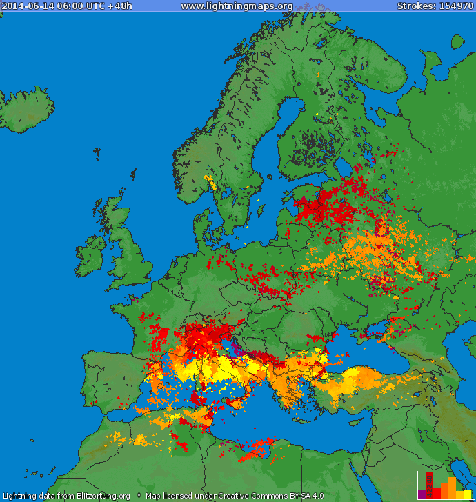 Image d'illustration pour Synthèse de l'épisode pluvio-orageux des 14 & 15 juin en PACA et Corse