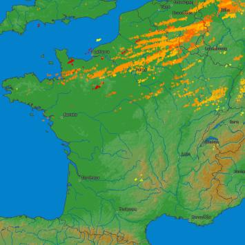 Image d'illustration pour Des orages de grêle pour Pâques