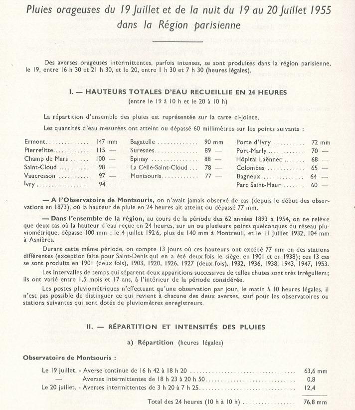 Image d'illustration pour Orage diluvien sur Paris et l'Ile de France les 19 & 20 juillet 1955