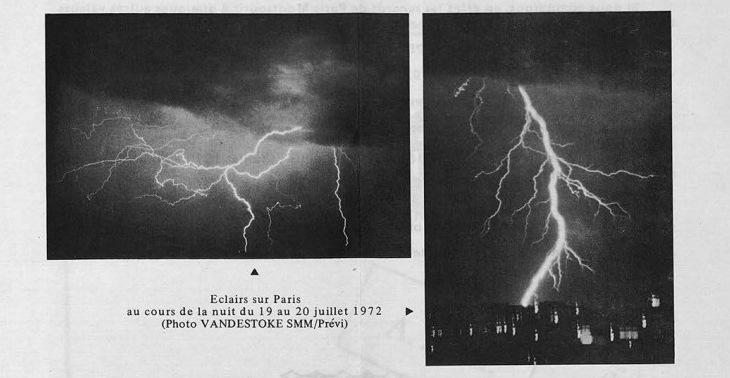 Image d'illustration pour Orage diluvien sur Paris et l'Ile de France les 19 & 20 juillet 1972