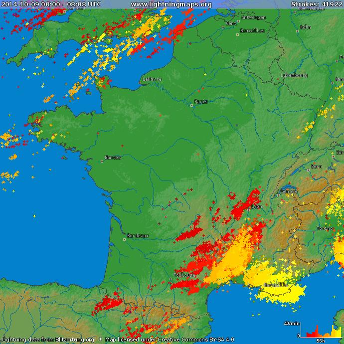 Image d'illustration pour Synthèse de l'épisode pluvio-orageux du 9 au 11 octobre près des Cévennes