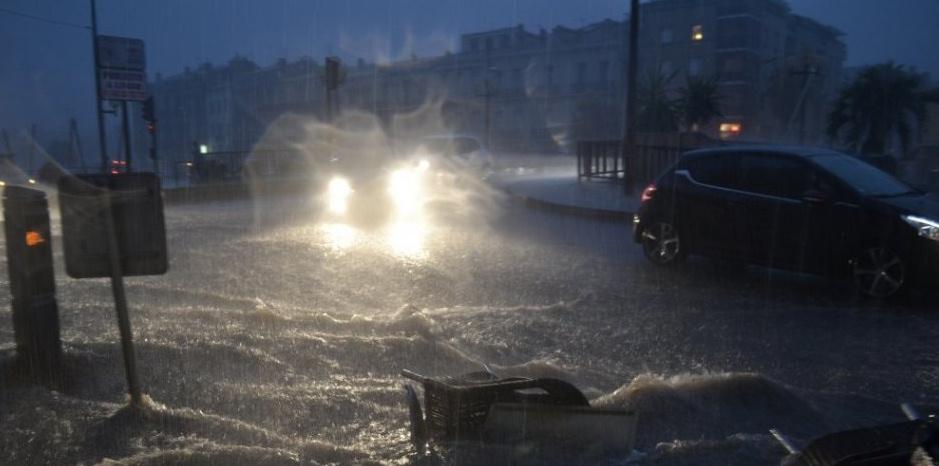 Image d'illustration pour Orage et record de précipitations à Sète