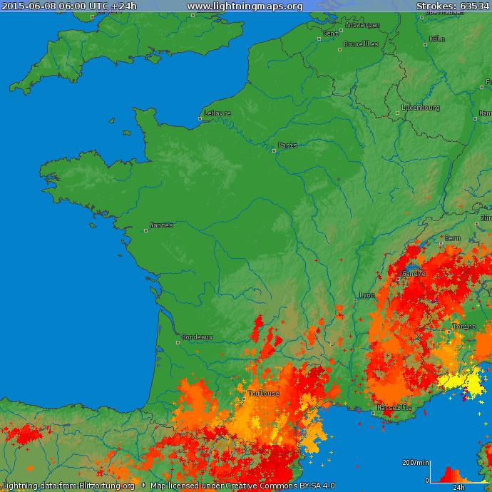 Image d'illustration pour Forts orages au Sud des Pyrénées au Languedoc Roussillon