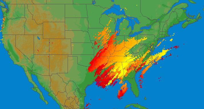 Image d'illustration pour Violents orages et tornades aux Etats-Unis à deux jours de Noël