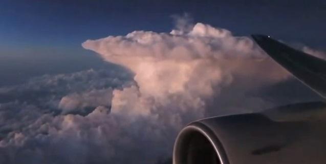Image d'illustration pour Supercellule orageuse vue d'avion