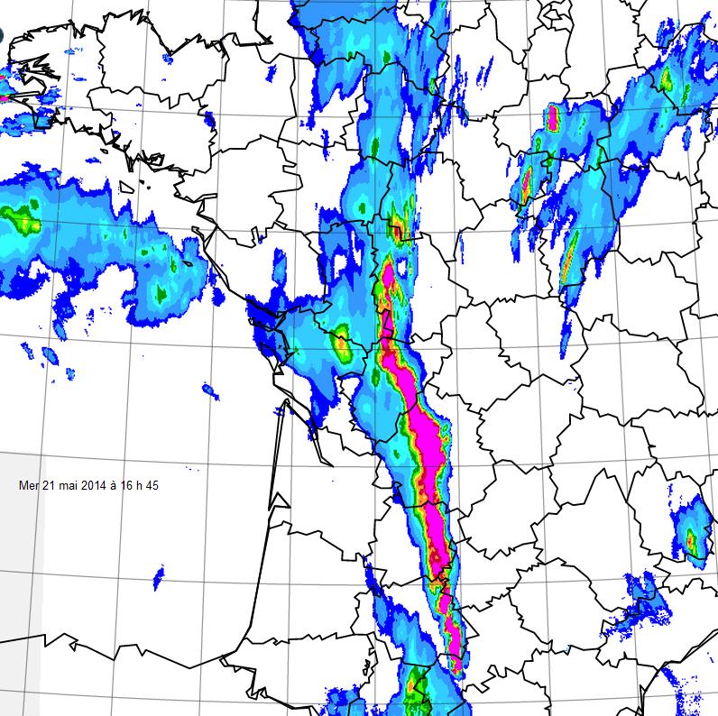 Image d'illustration pour Ligne de forts orages entre Sud-Ouest, Limousin et Centre - rafales et grêle