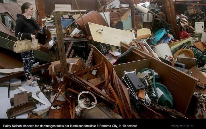 Image d'illustration pour L'ouragan Michael frappe le sud des Etats-Unis mercredi