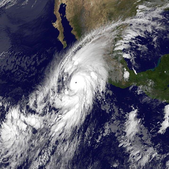 Image d'illustration pour Patricia : Le plus puissant ouragan de l'histoire près du Mexique