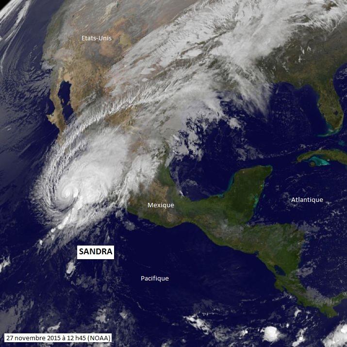 Image d'illustration pour L'ouragan Sandra établit un record sur le Pacifique soumis à El Nino