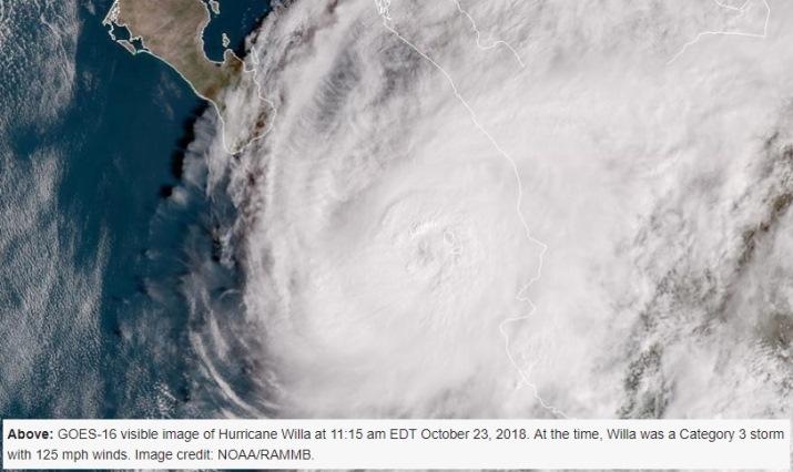 Image d'illustration pour Ouragan Willa du Pacifique au Mexique
