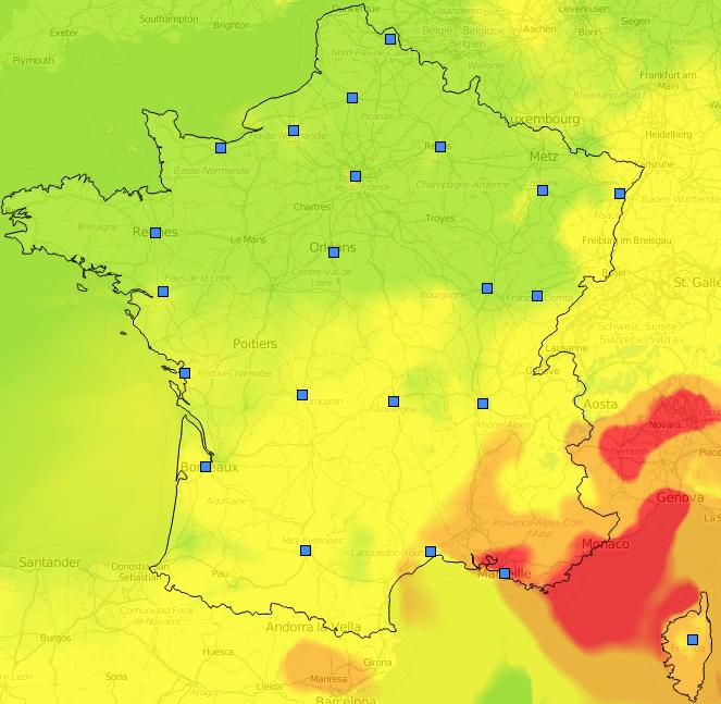 Image d'illustration pour Pollution de l'air à l'ozone au Sud et en Ile de France