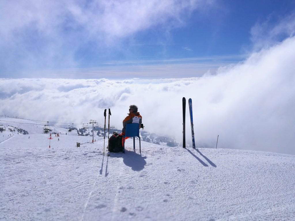 Les nuages à la conquête de Chamrousse