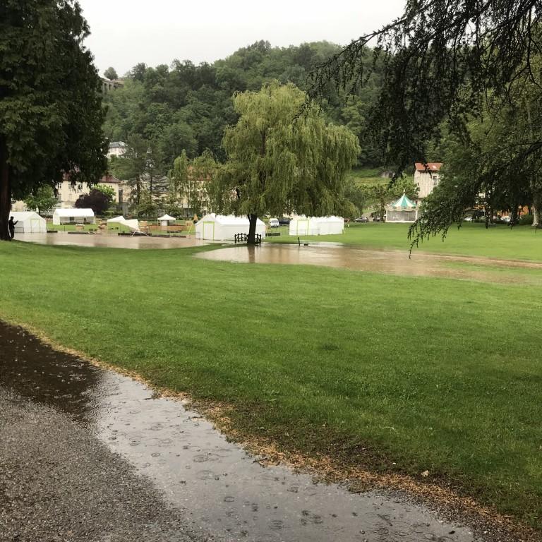 Après-midi humide à Uriage!