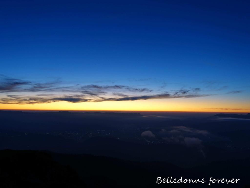 Belledonne by night vue sur Grenoble A.P.