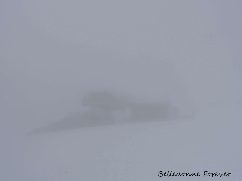 Comme souvent le sommet dans le brouillard A.P.