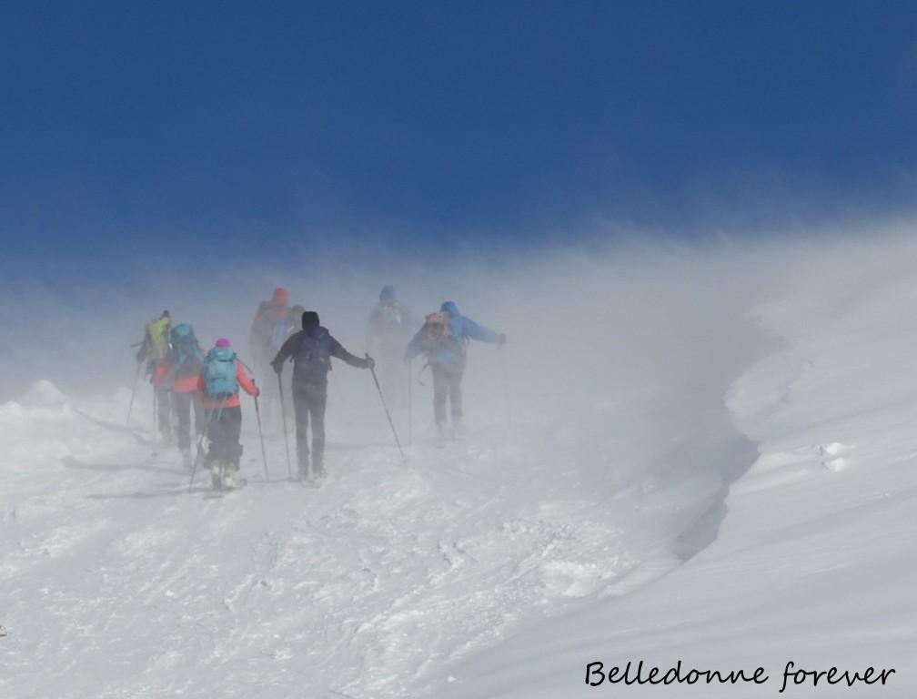Gros transport de neige par le vent A.P.