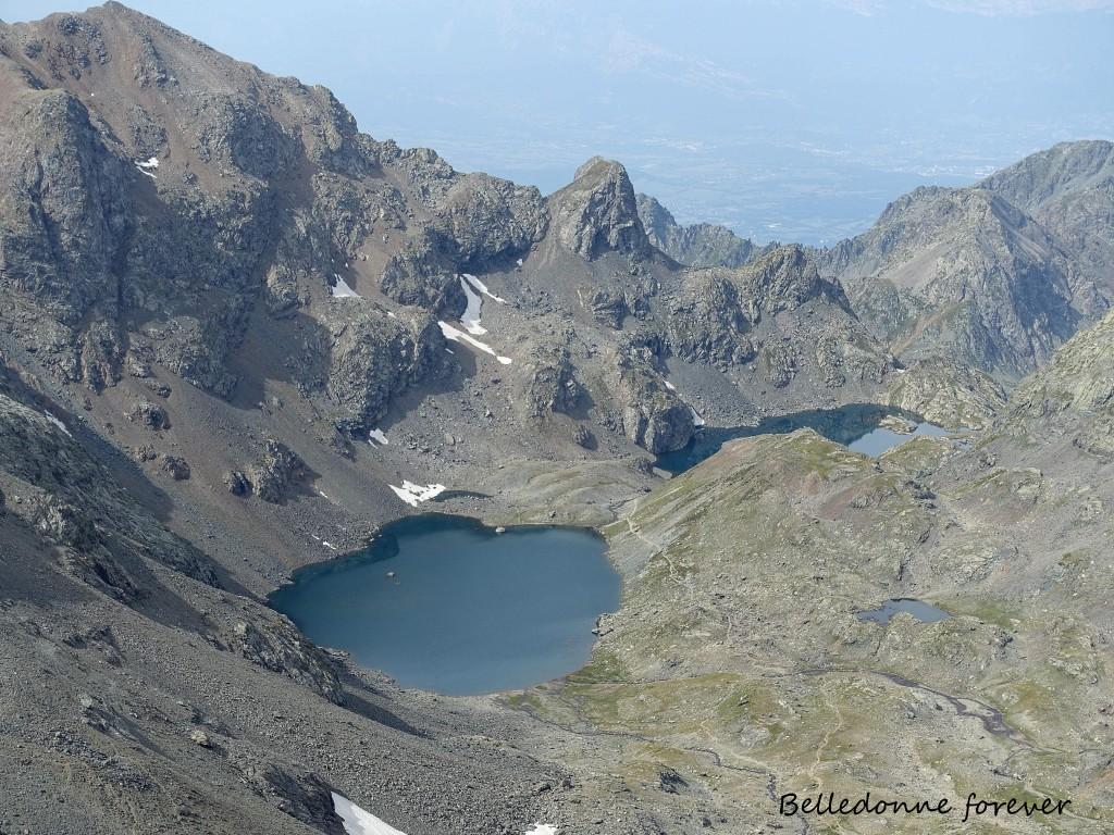 Lacs du Domènon (2385m)  vue d'en haut A.P.