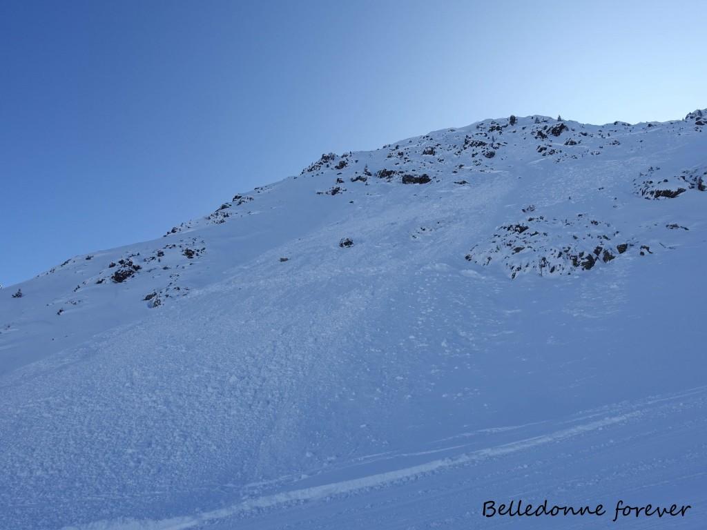 Les avalanches sont de sorties versants nord ouest A.P.