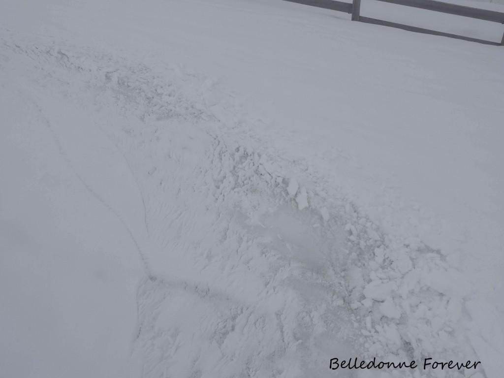 Neige humide sur de la neige dure A.P.