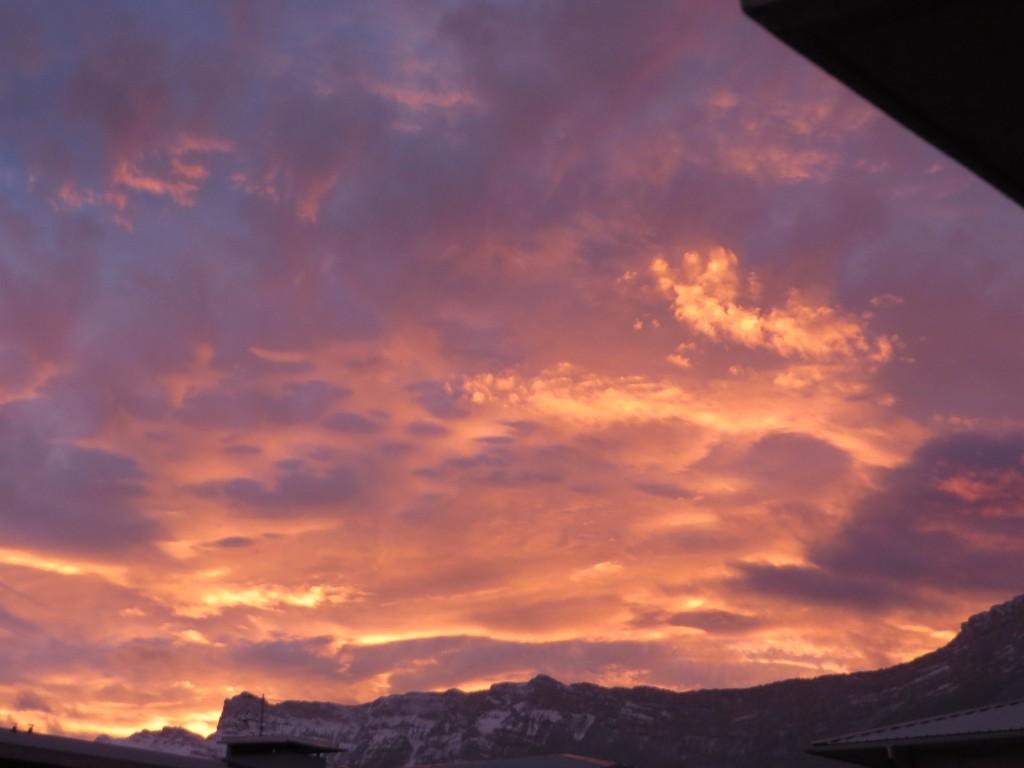 féerie de couleurs dans le ciel du Vercors