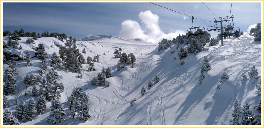 ski hors pistes dans la fraîche