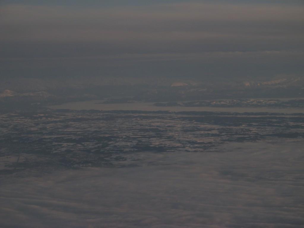 Brouillard sur la vallée de l'Isère au loin
