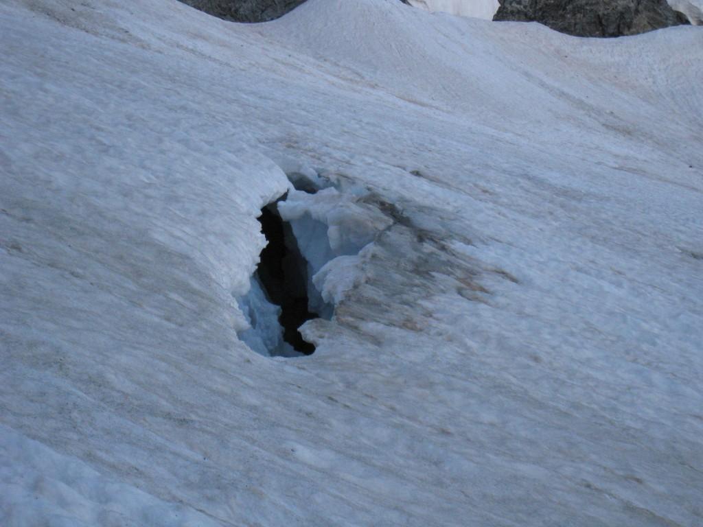 Crevasse, glacier du vallon de la Pilatte