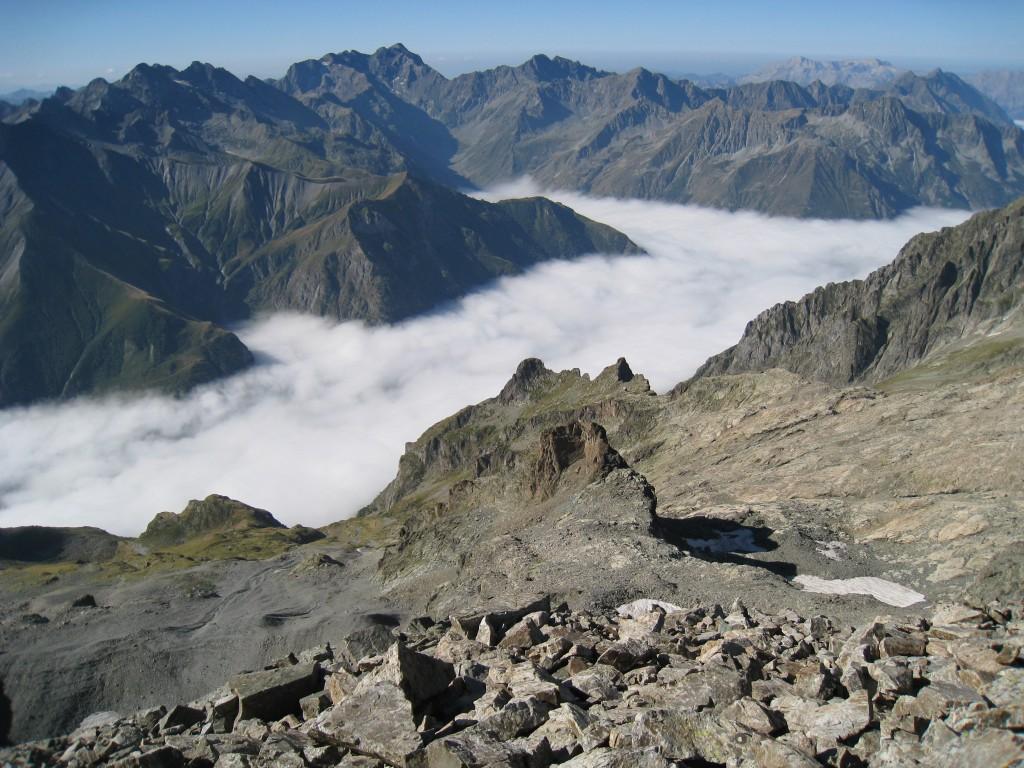 Mer de nuage sur le Valgaudemar