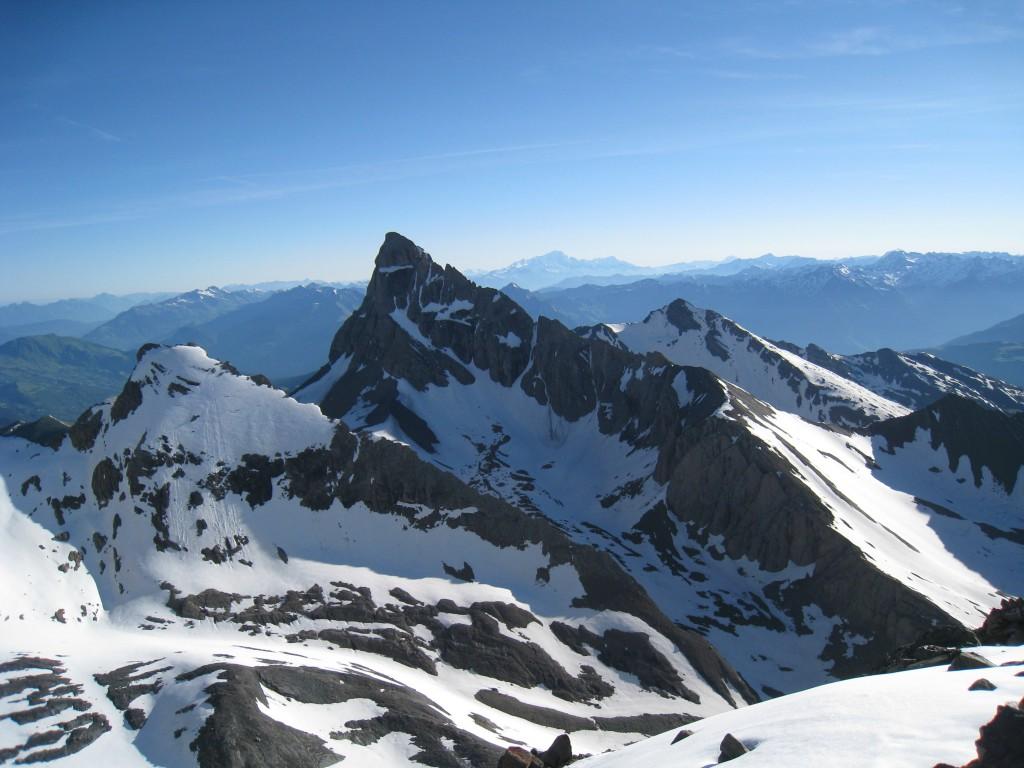 Mt Blanc et Aiguilles d'Arves