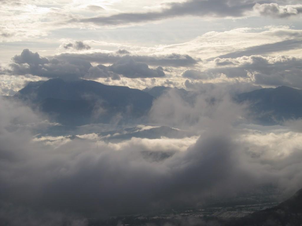 Taillefer au dessus des nuages bas
