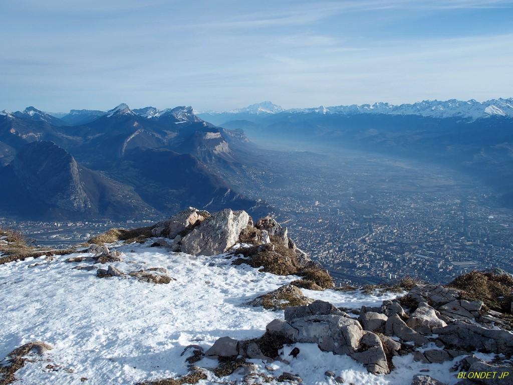Grenoble et Vallée du Grésivaudan vus du Moucherotte