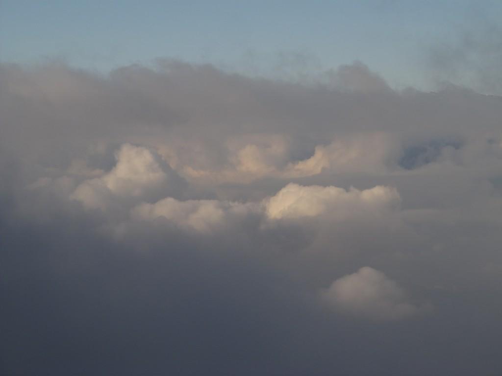 Proche du sommet des nuages.