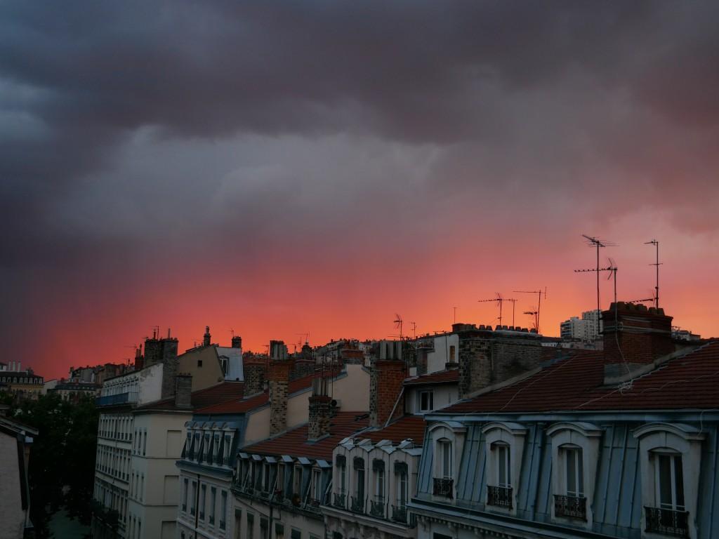 Embrasement du ciel Lyonnais